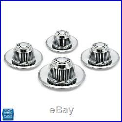 1968-1982 Chevy Cars Rally Wheel Cap Dish 4 PC Set General Motors Division Metal