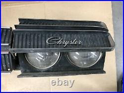 1969 Chrysler 300 Grill Hidden Headlight Motor Bezel Bucket Hood Latch Charger