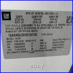 2017 Gmc Acadia 3.6l Engine Motor 25k