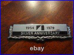 Amc American Motors Nos Jeep Cj-5 25th Silver Anniversary Emblem 1954-1979