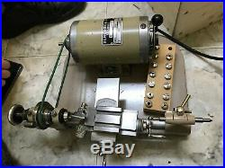 Bergeon 8 mm lathe with original accesories motor, table and other Parts