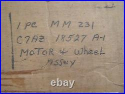 NOS OEM Ford 1967 1968 Galaxie 500 Heater Fan Motor + Wheel Fresh Air Heater
