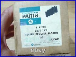 Nos Mopar 1971-4 Gtx, Roadunner, Charger, R/t, Super Bee Heater Blower Motor Nib