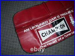 Vintage nos 70s Champion Sparkplugs auto fender part service gm show accessory